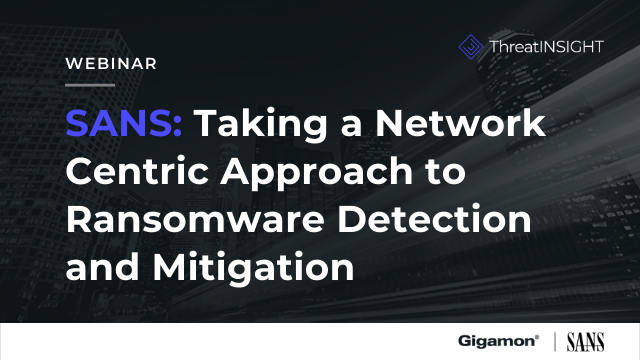 Taking a Network Centric approach to Ransomware Detection and Mitigation