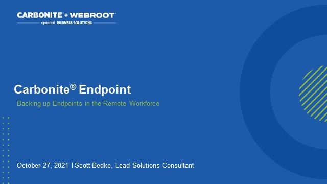 Backing Up Endpoints in the Remote Workforce