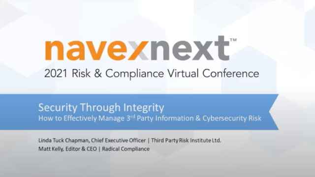 Security Through Integrity: How to Effectively Manage Third-Party Information