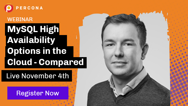 MySQL High Availability Options in the Cloud - Compared