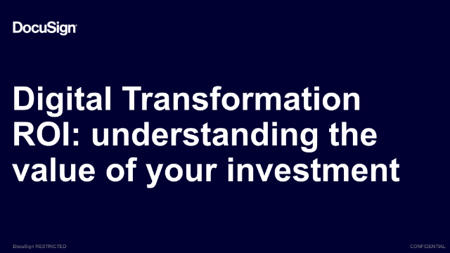 Digital Transformation ROI: understanding the value of your investment