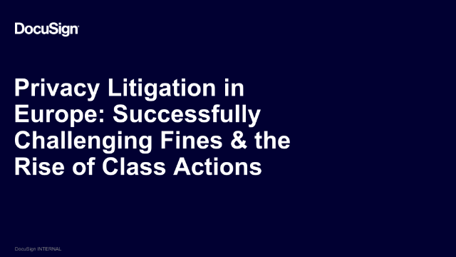 Privacy Litigation in Europe: Successfully Challenging Fines