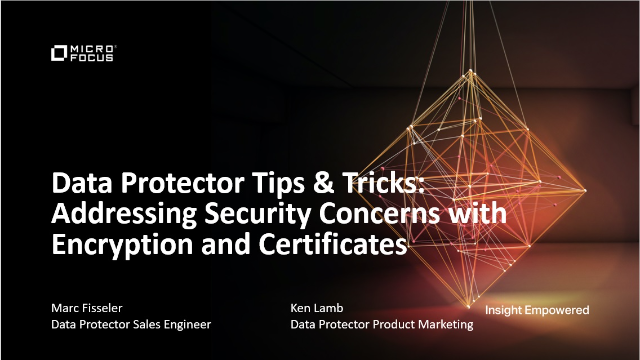 DP Tips & Tricks: Addressing Security Concerns with Encryption and Certificates
