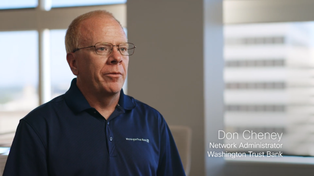 Washington Trust Bank uses CX Cloud to easily monitor its network infrastructure