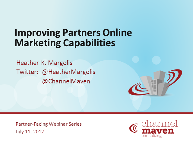 Improving Partners Online Marketing Capabilities