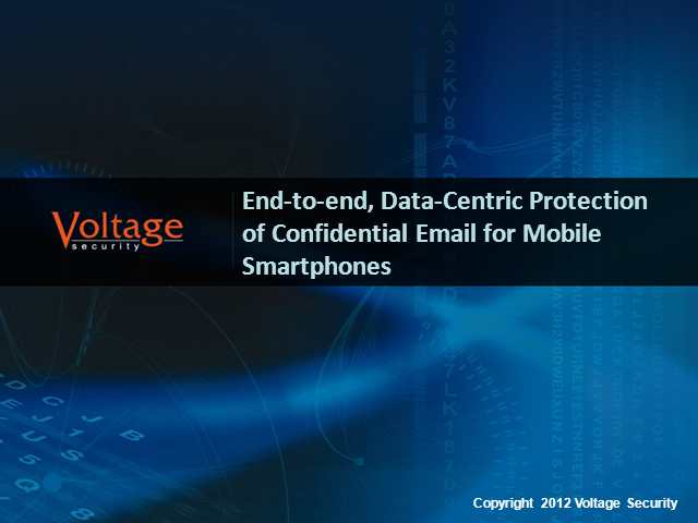 End-to-end, Data-Centric Protection of Confidential Email for Mobile Smartphones