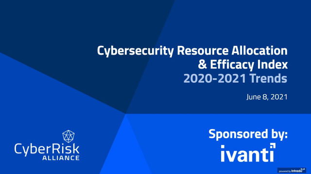 Cybersercurity Resource Allocation & Efficacy Index: 2020 – 2021 Trends