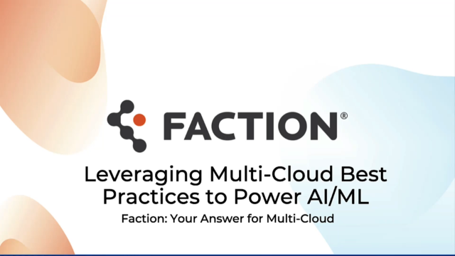 Leveraging Multi-Cloud Best Practices to Power AI/ML