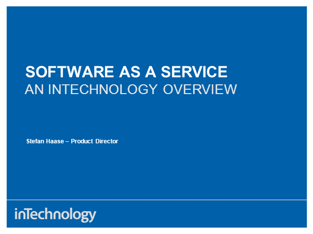 Software As A Service - An InTechnology overview