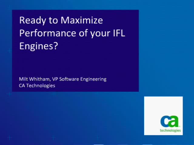 Ready to Maximize Performance of your IFL Engines?