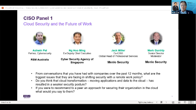 CISO Panel Discussion: SASE, Cloud Security and the Future of Work