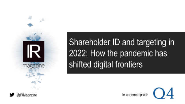 Webinar – Shareholder ID & targeting: How the pandemic shifted digital frontiers