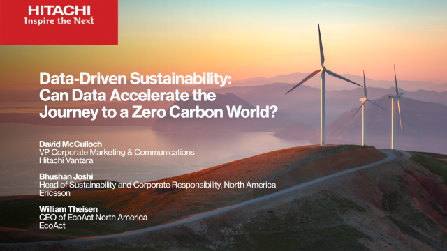 Data-Driven Sustainability:Can Data Accelerate the Journey to Zero Carbon World?