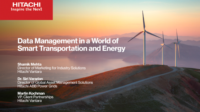 Data Management in a World of Smart Transportation and Energy