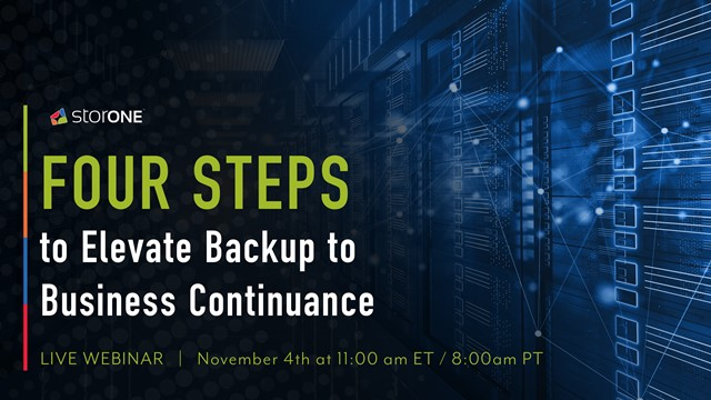 The Four Steps to Elevate Backup into Business Continuance