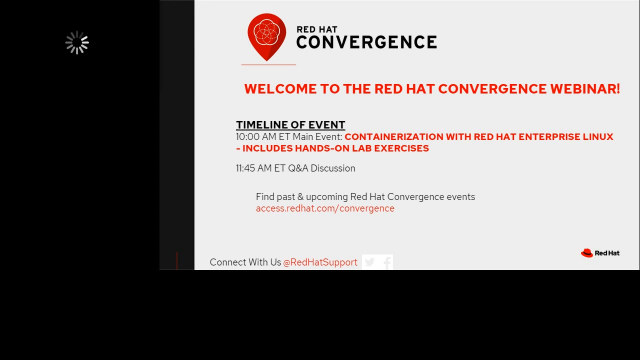 Red Hat Convergence:Containerisation with Red Hat Enterprise Linux(hands-on lab)