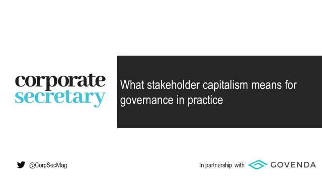 Webinar – What stakeholder capitalism means for governance in practice