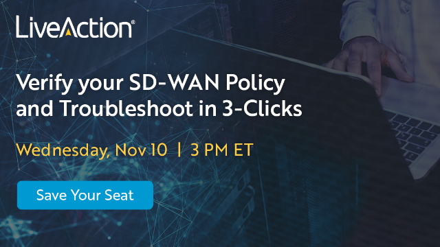 Verify your SD-WAN Policy and Troubleshoot in 3-Clicks