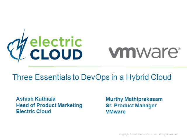 Three Essentials to DevOps in a Hybrid Cloud, a joint webinar with VMware
