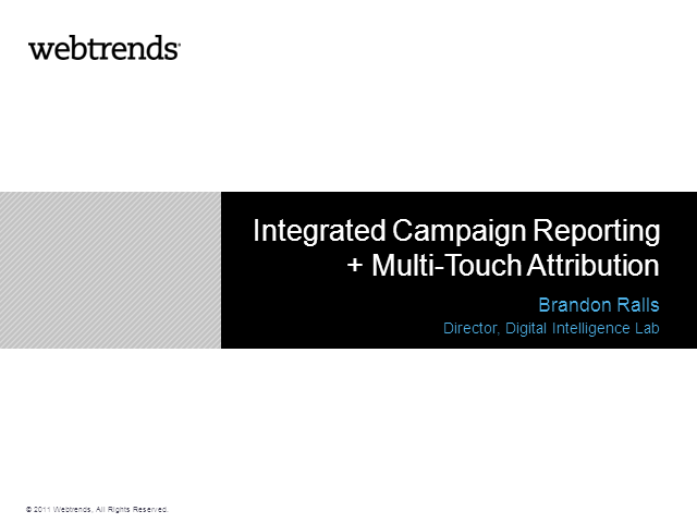 Powering your digital marketing through integrated campaign reporting