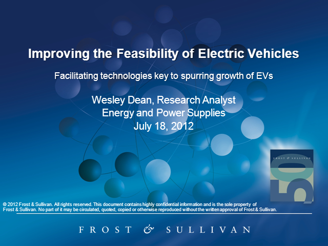Improving the Feasibility of Electric Vehicles