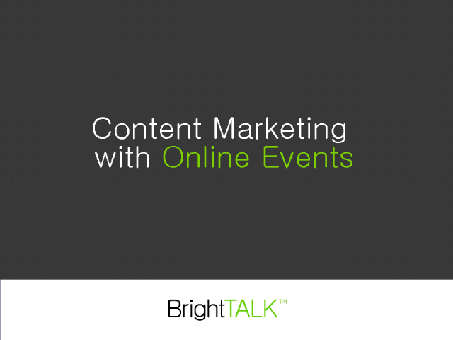 Content Marketing with Online Events