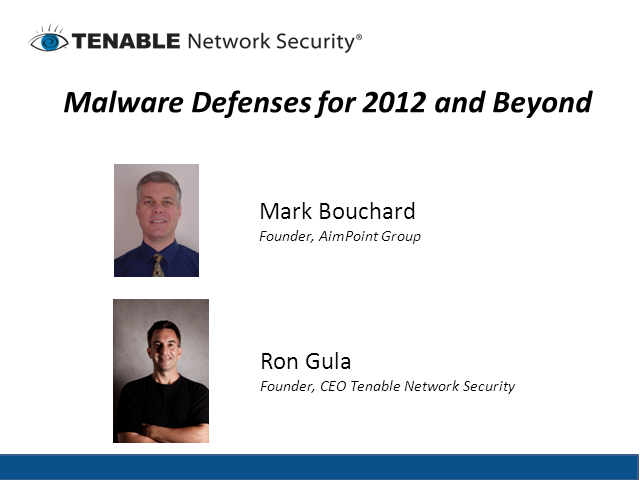 Malware Defenses for 2012 and Beyond