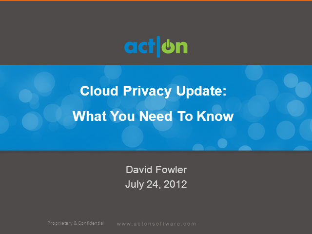 Cloud Privacy: What You Need To Know