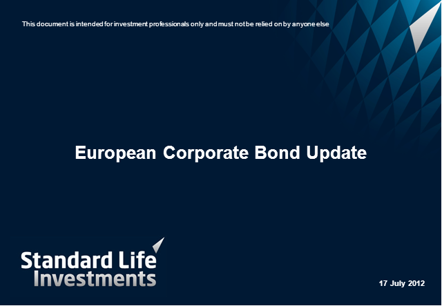 European Corporate Bond Credit Update