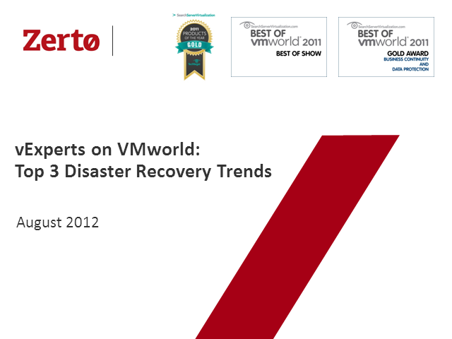 vExperts on VMworld: Top 3 Disaster Recov