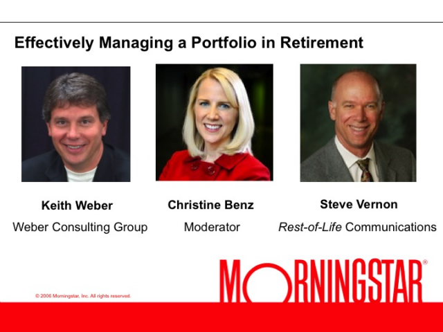Effectively Managing a Portfolio in Retirement