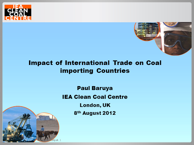 Impacts of seaborne trade on coal importing countries