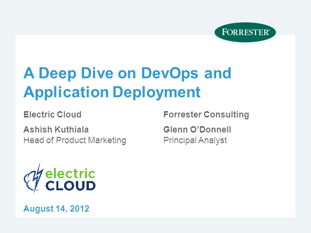 A deep dive on DevOps and Application Deployments