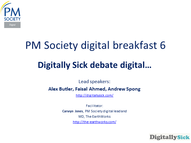 Digital Breakfast 6 - Digitally Sick debate digital