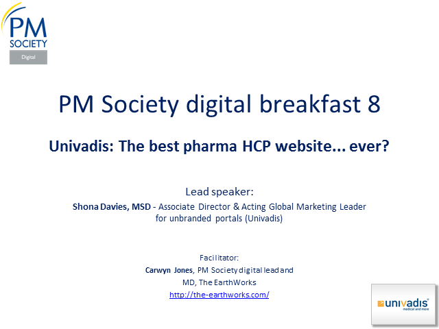 Digital Breakfast 8 - Univadis: The best pharma HCP website... ever?