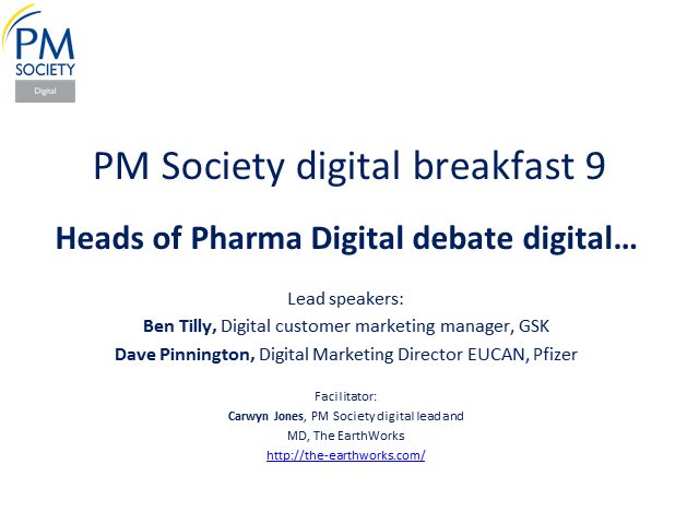 Digital Breakfast 9 - Pharma Heads of Digital debate Digital