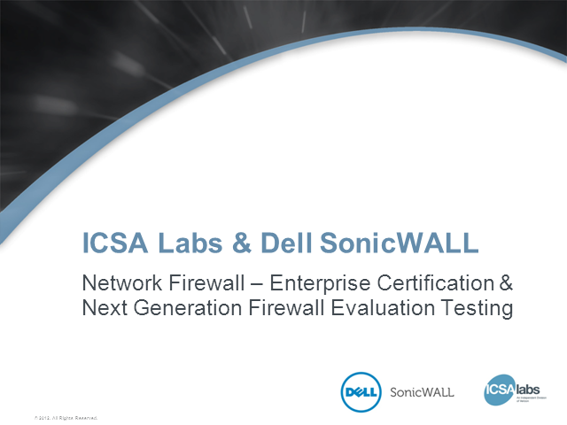Is Your Firewall ICSA Labs Certified and Evaluated?