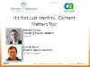 Identity is the New Perimeter - Part II ­ The Role of Content and Context