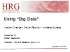Using Big Data: Master Change – Deliver Results – Increase Success