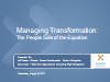 Managing Transformation: The People Side of the Equation