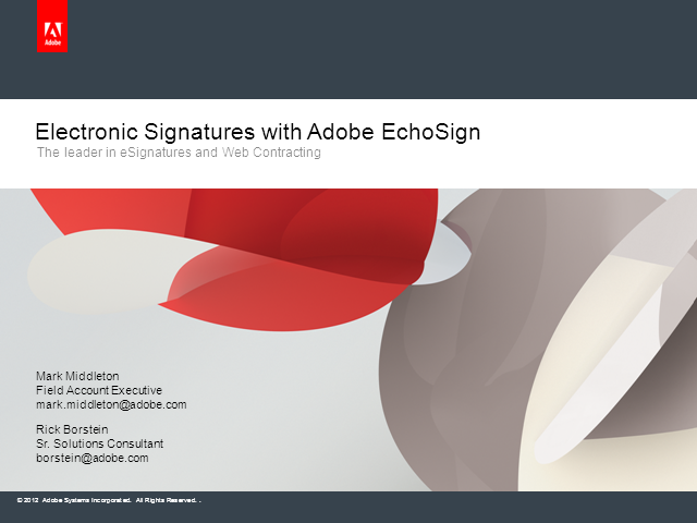 Secure and Trusted Electronic Signatures with Adobe EchoSign