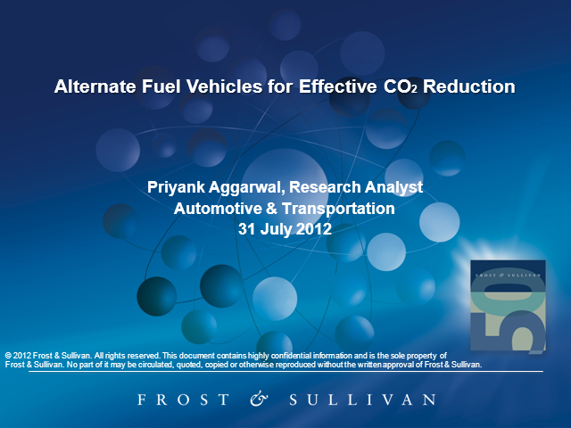 Alternate Fuel Vehicles for Effective CO2 Reduction