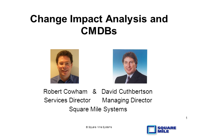 Change Impact Analysis and CMDBs