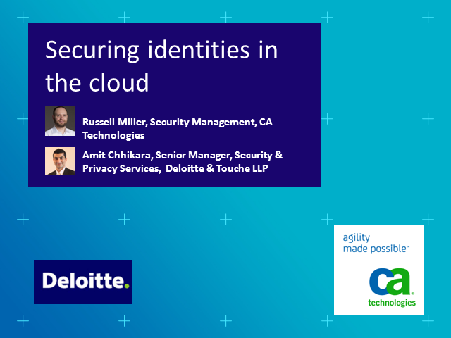 Securing Identities in the Cloud