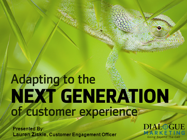 Adapting to the Next Generation of Customer Experience