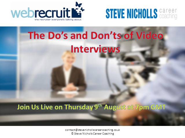 The Do's and Don'ts of Online Video Interviews