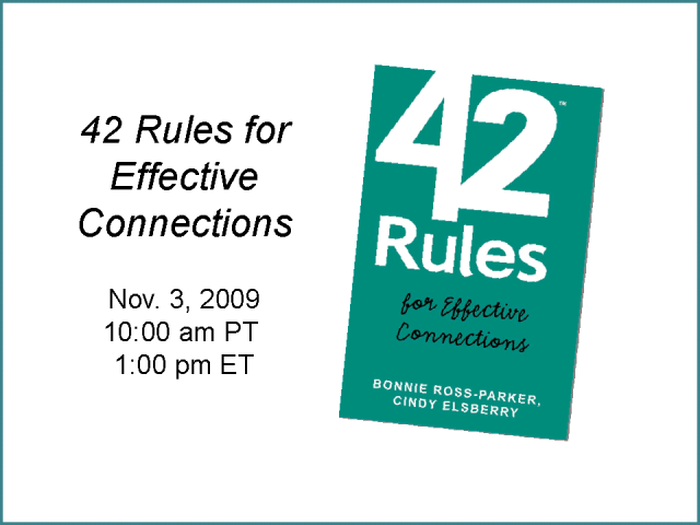 A New Take on Networking - 42 Rules for Effective Connections