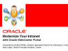 Content Management: Modernise with Oracle WebCenter