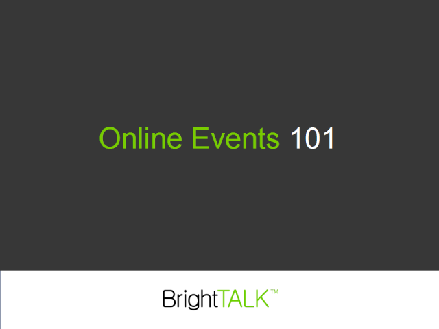 Online Events 101