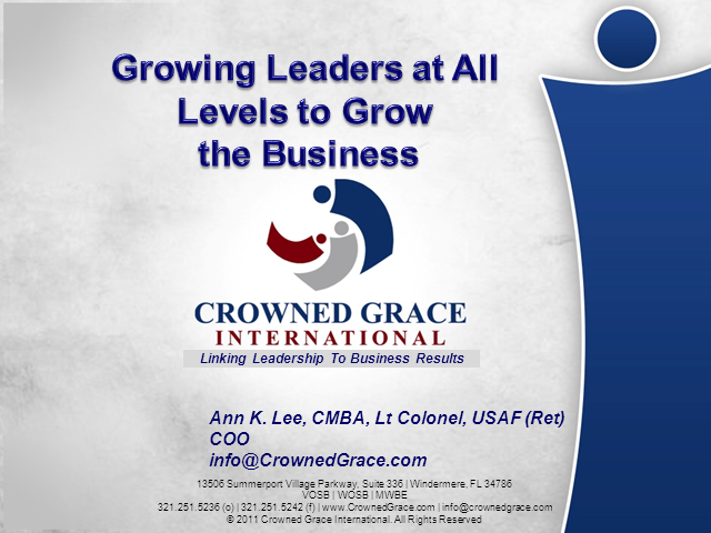 Growing Leaders at All Levels to Grow the Business